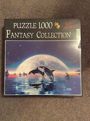 NEW SEALED The Fantasy Collection - Dolphin Symphony 1000 Piece Jigsaw Puzzle