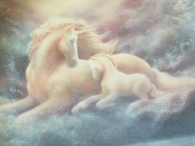 Hamilton Collection A Mother's Love Unicorn Magical World Legends Myths Plate