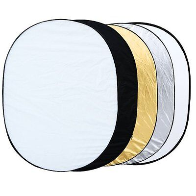 """BS226 5 in 1 collapsible reflector oval photo studio 90 x 120 cm (35 """"x 47 ')"""