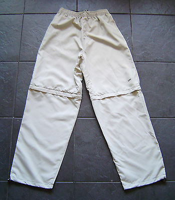 Mens/womens Leeds United Beige Zip-Off Legs Hiking/walking Trousers Size Small
