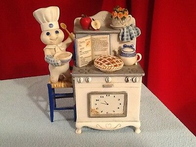 Pillsbury Doughboy Time For Pie Clock Danbury Mint Cherry Needs Cleaning