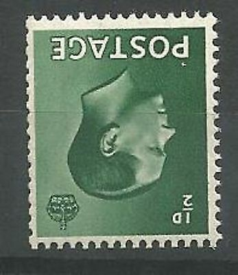 1936 Edward VIII SG457wi Inv. Wmk. 1/2d Green Unmounted Mint