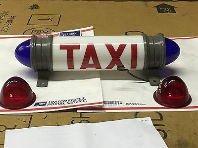 WOW! 1930s VinTagE RARE Early TAXI CAB Light OLD Car Sign Model A Ford Era NOS