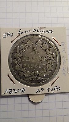 5frs argent louis philippe 1831W