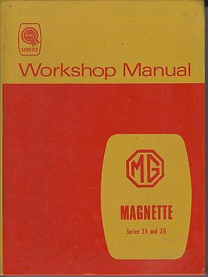 Mg Magnette Za & Zb Saloon ( 1953 - 1958 ) Original Factory Workshop Manual