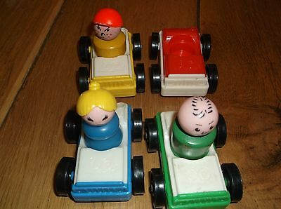 Vintage Fisher Price Toy cars and people