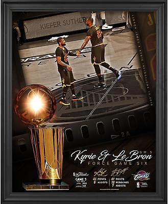 LeBron James Kyrie Irving Cavaliers Framed 16x 20 Collage Fanatics Authentic COA