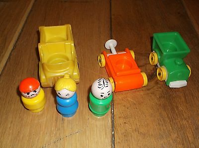 Vintage Fisher Price Toy vehicles and people