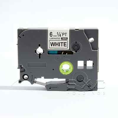 """Best Compatible TZ TZe 211 Black on White Tape for Brother P-touch 6mm 1/4"""""""