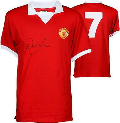 Denis Law Manchester United Autographed 1973 Jersey ICONS