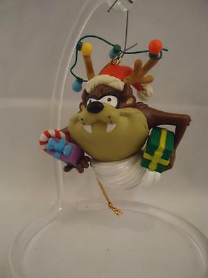 Trevco 1999 Taz Tasmanian Devil Looney Tunes Presents Christmas Ornament EUC