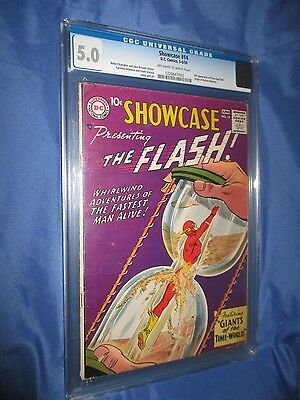 SHOWCASE #14 CGC 5.0 4th Appearance of the Flash (Origin of Dr Alchemy/TV/1958)