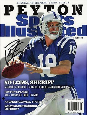 Peyton Manning NFL Colts Signed Sports Illustrated Mag Fanatics Authentic COA