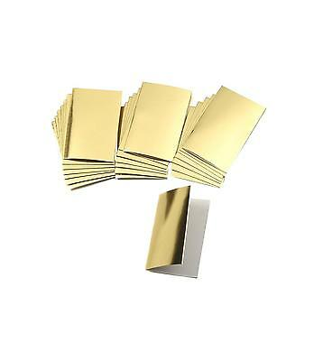 24 Luxury Foil Metallic Gift Tags -Silver or Gold Self Adhesive Birthday Present