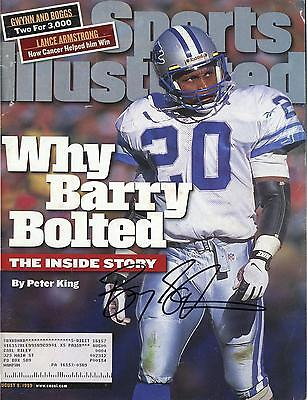 Barry Sanders Detroit Lions Autographed Barry Bolted Sports Illustrated Magazine