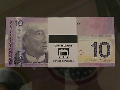 1-Canada 2008 10$ Dollar Bill Canadian Note Mint Uncirculated Banknote bank note