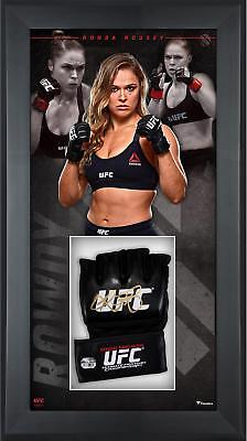 Ronda Rousey UFC Framed Signed Fight Model Glove Shadowbox