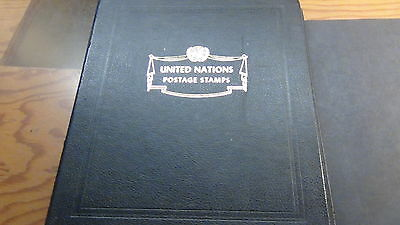U N stamp collection in Minkus 3 ring album to '78 w/inscription tabs ~ Rare