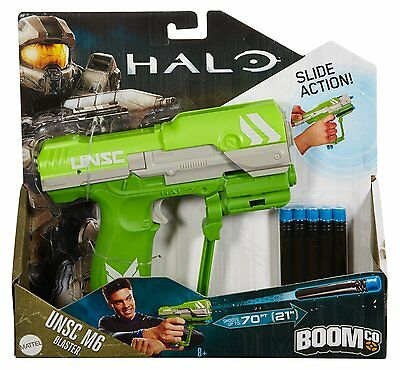 Boomco Halo UNSC M6 Blaster Green SHOOT 70 Ft 8+, Boys & Girls