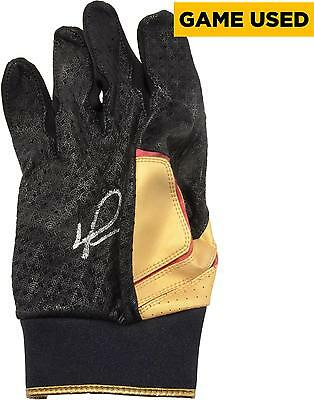 David Ortiz MLB Red Sox Signed Game-Used Red & Gold Batting Glove
