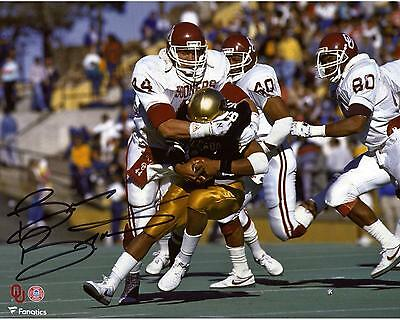 """Brian Bosworth Oklahoma Sooners Autographed 8"""" x 10"""" Tackle Photograph"""