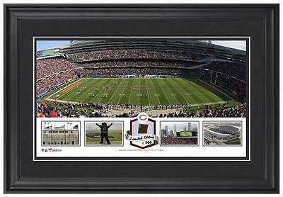 Soldier Field Chicago Bears Framed Panoramic Collage with Game-Used Item#3352851