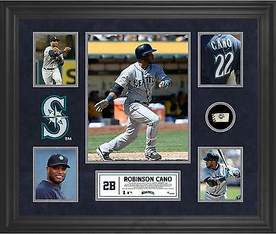 Robinson Cano Seattle Mariners Framed 5-Photo Collage with Game Ball Piece