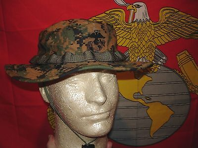 USMC MARPAT Field Cover Boonie Hat Woodland size Large NEW UNISSUED