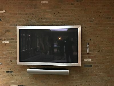 Bang & Olufsen Silver BeoVision 4-65 with Silver BeoLab 7.1 complete package