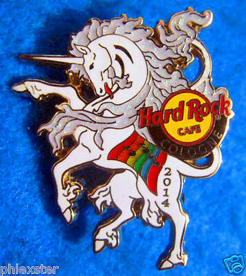 COLOGNE CHRISTOPHER STREET DAY WHITE UNICORN LGBT GAY PRIDE Hard Rock Cafe PIN