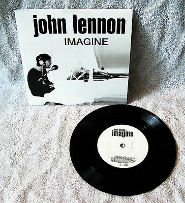 "John Lennon - ""imagine"" - 45 Rpm Record - Cardboard Picture Sleeve - Great Gift!"