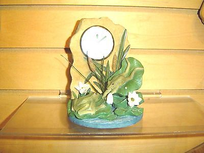 Frogs On Lily Pad Table Clock