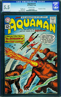Aquaman #1 CGC 5.5 First issue DC key issue Silver Age comic 1962 1256791001