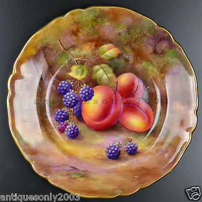 Royal Worcester Fruit Hand Painted English Porcelain Plate HORACE PRICE SIGNED