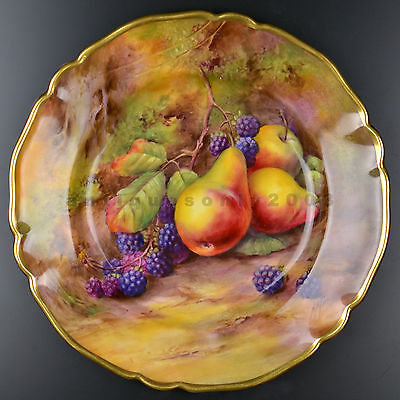 STUNNING Royal Worcester Fruit Hand Painted Porcelain Plate HORACE PRICE SIGNED