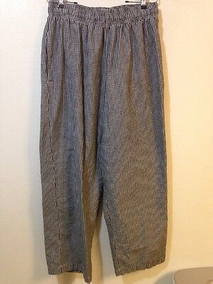 Chef Works Adult XL Black White Check Baggies Pants