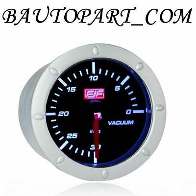 "2""52mm Vacuum Gauges Meters 0-30 psi White Led Displayed Car Smoke Universal"
