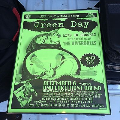 Green Day Concert Poster!! Live at the Uno Lakefront Arena