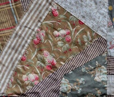 1880-1910 Gorgeous Crazy Vintage Antique Quilt Top: Darling Raspberry & Florals
