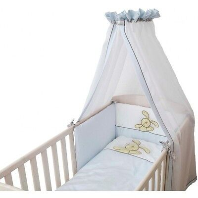 Be Be's Collection 308-53 Hasi Bed Set 3-pc blue with Canopy and Bumper
