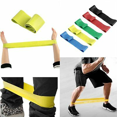 Elastic Resistance Loop Bands for Training Gym Yoga Pilates ABS Exercise Fitness