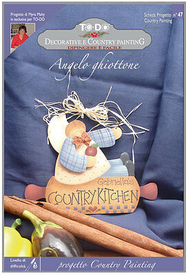 Country Painting - Kit To-Do Con Schede E Sagoma Angelo Ghiottone Scheda 47