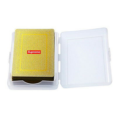 Supreme Gold Playing Cards Deck FW13 Clothing Accessory
