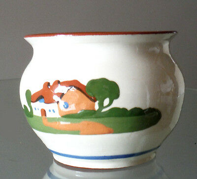 Torquay Style Motto Ware Bowl - Glazed Terracotta