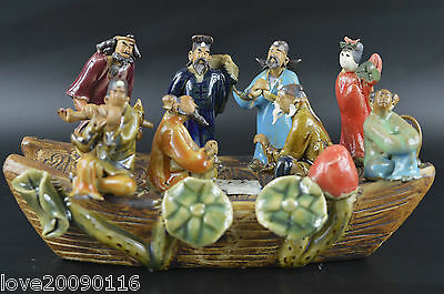 Collectibles Porcelain Carve Chinese Famous 8 Immortal Rare Auapicious Statue