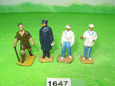 vintage dinky meccano lead model railway figures x4 mixed 1647