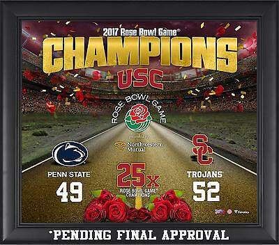 "USC Trojans Framed 15"" x 17"" 2017 Rose Bowl Champions Collage"