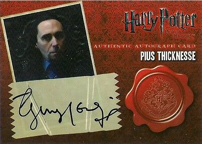 """Harry Potter Deathly Hallows Part 1 - Guy Henry """"Pius Thicknesse"""" Autograph Card"""