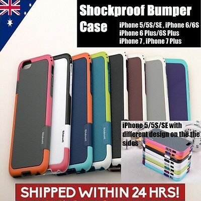 SHOCKPROOF Heavy Duty Tough Armor Case Cover For iPhone 7 Plus 6s 5s SE