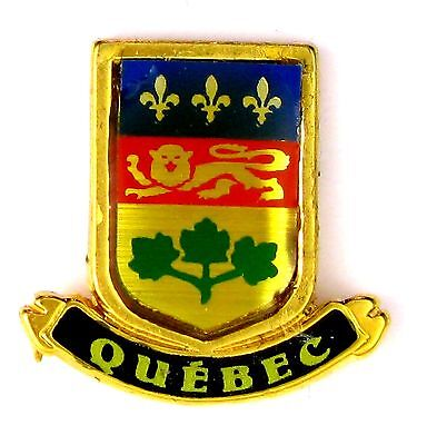 Pins Tourisme Blason Armoiries Quebec Canada